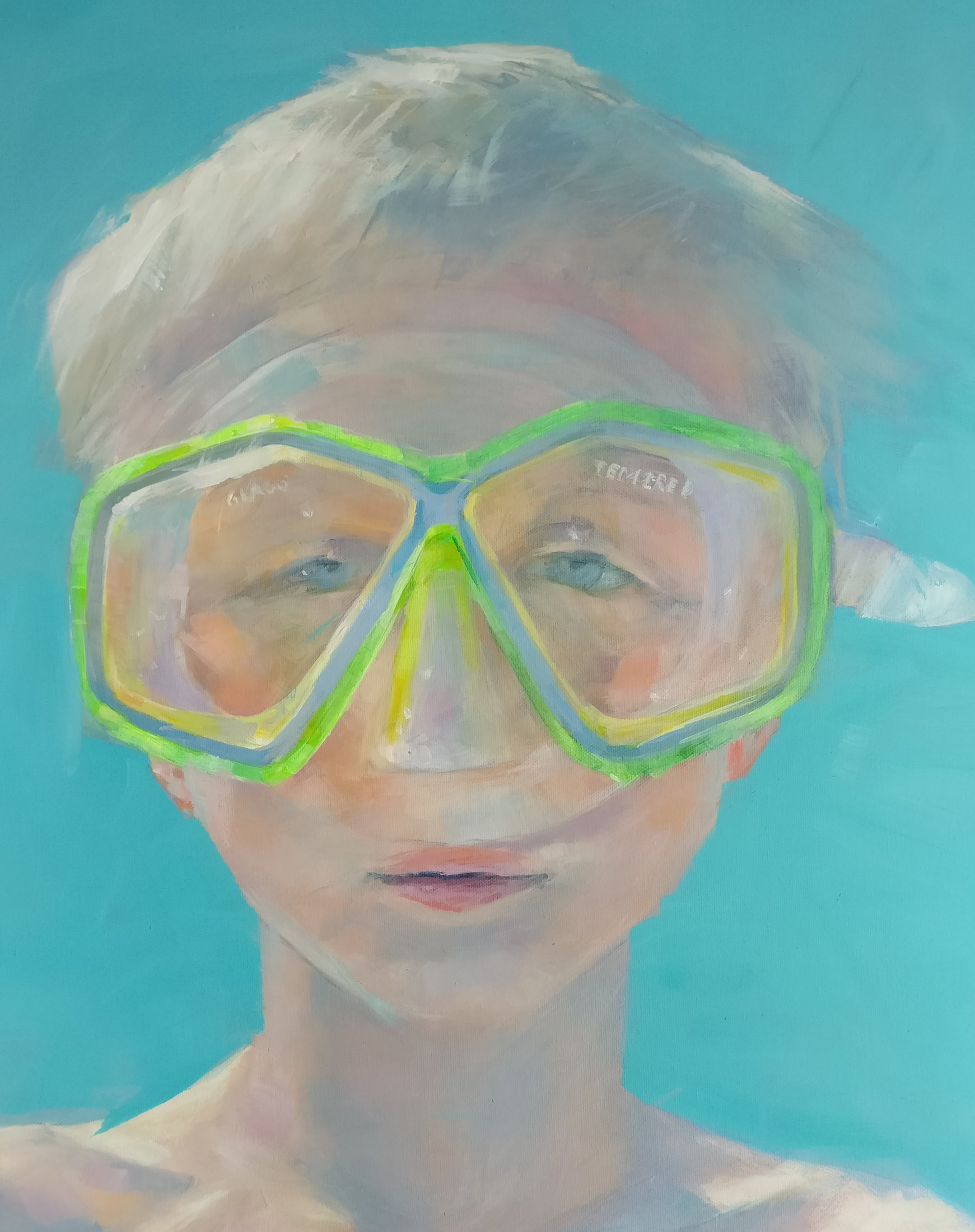 Boy and goggles